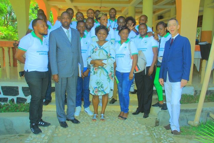 Directeur Provincial ACE Ituri & équipe HESHIMIA MAZINGIRA au lancement du bureau Ituri le 18 Avril 2019